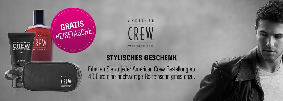 American Crew Metallbecher gratis