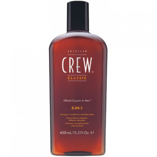 American Crew 3 in 1 Shampoo, Conditioner & Bodywash