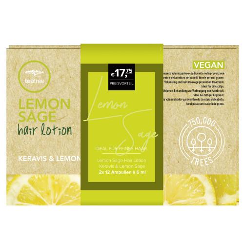 Paul Mitchell Tea Tree Hair Lotion Keravis & Lemon Sage Duo 2x 12 Stk.
