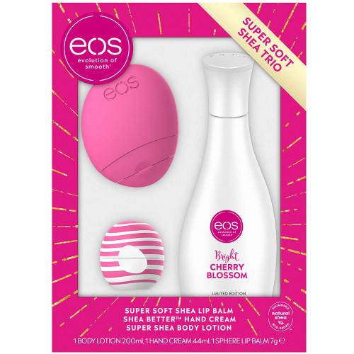 eos Cherry & Bright Lip & Lotions Set Pink