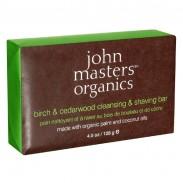 john masters organics Bodycare Birch & Cedarwood Cleansing & Shaving Bar 128 ml