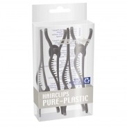 Comair Hair-Clips Pure Plastic 4er Pack