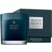 Molton Brown HOME Black Leather Accord & Cade Three Wick
