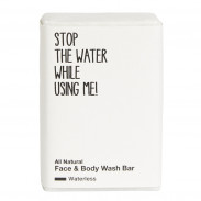Stop the water while using me! All Natural Face & Body Wash Bar 110 g