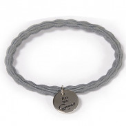 "Great Lengths Hair Tie twisted Grey ""You are Great"""