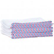 1o1BARBERS Barber Towel White/Red/Blue 20x40cm