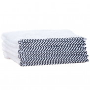 1o1BARBERS Barber Towel White/Black 20x40cm
