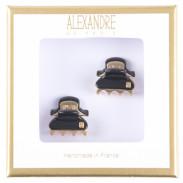 Alexandre de Paris Pince Vendômes Micro Double Giftbox schwarz