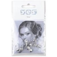 Solida Haar-Piercing Strass, kristall, 10 Stück