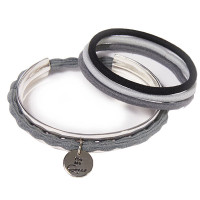 """Great Lengths Hair Tie Cuff Silver """"You are Great"""""""