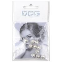 Solida Haar-Piercing Perle, weiß, 10 Stück